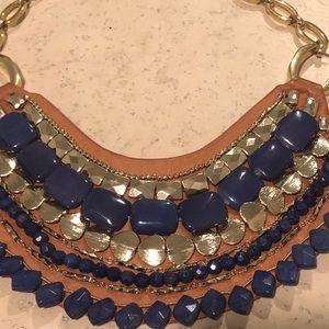 Stella & Dot Indira Blue Stone Necklace